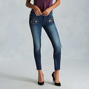True Religion Halle Super Skinny Moto Jeans